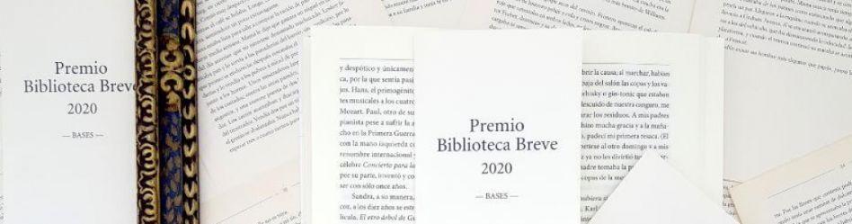 Abierta la convocatoria del Premio Biblioteca Breve 2020