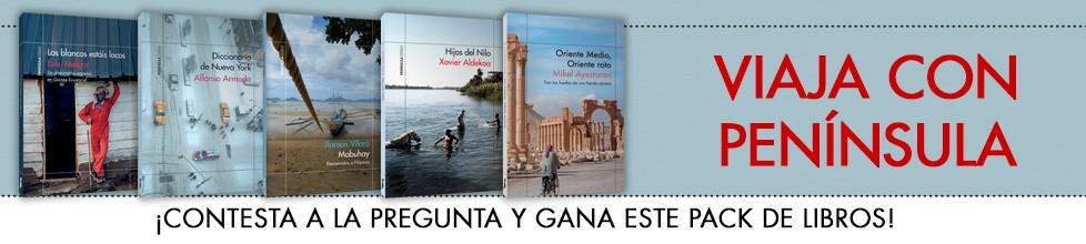 ¡Este pack de literatura de viajes puede ser tuyo, ¡participa!